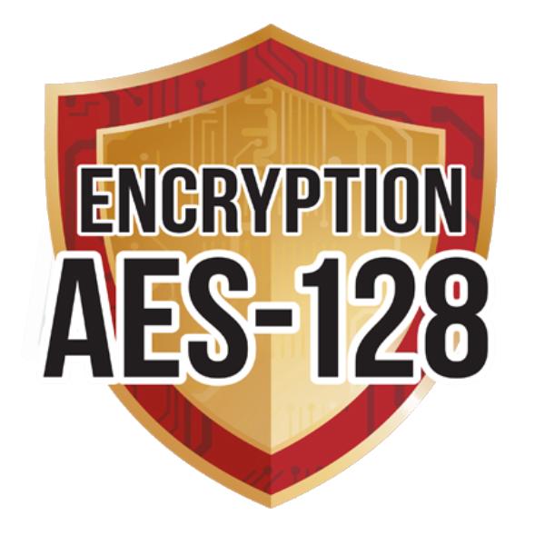 Ditec AES 128 bites kódolás