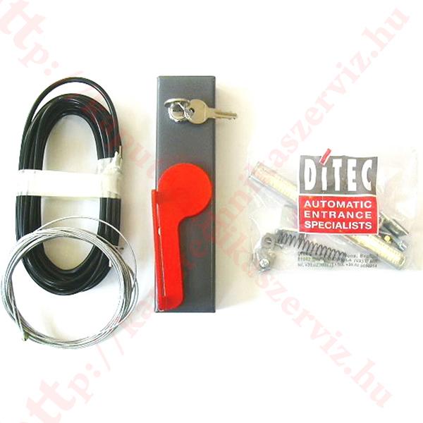 Ditec DEB04 kézi kapunyitó kireteszelő szett - kaputechnikaszerviz.hu