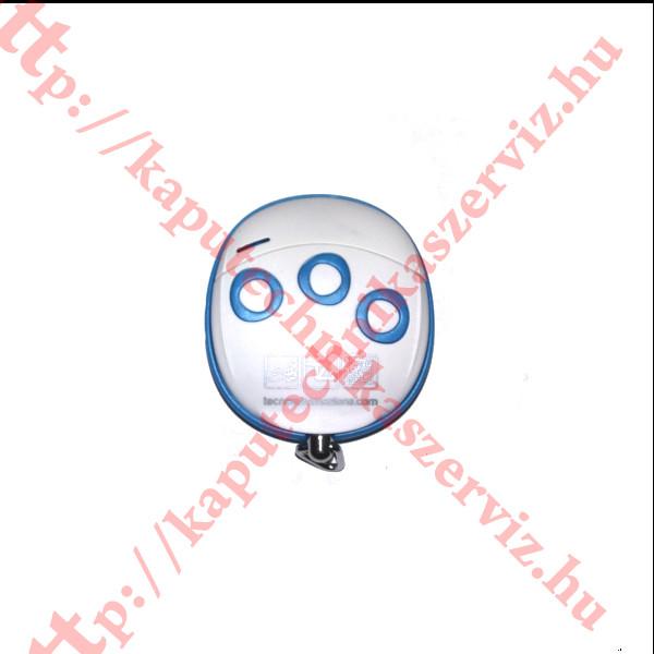 Proteco, Tecno Wally TLCWX5T kék - fehér kapunyitó távirányító - kaputechnikiaszerviz.hu