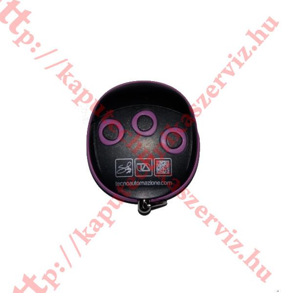 Proteco, Tecno Wally TLCWX5T fekete-lila kapunyitó távirányító - kaputechnikaszerviz.hu