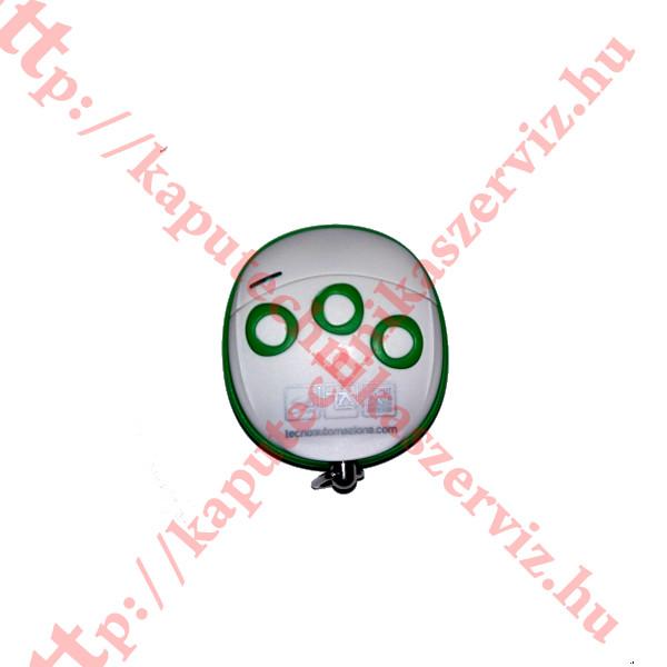 Proteco, Tecno Wally TLCWX5T zöld - fehér kapunyitó távirányító - kaputechnikaszerviz.hu